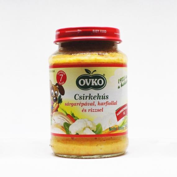 OVKO Csirkehús sárgarépával, karfiollal és rizzsel